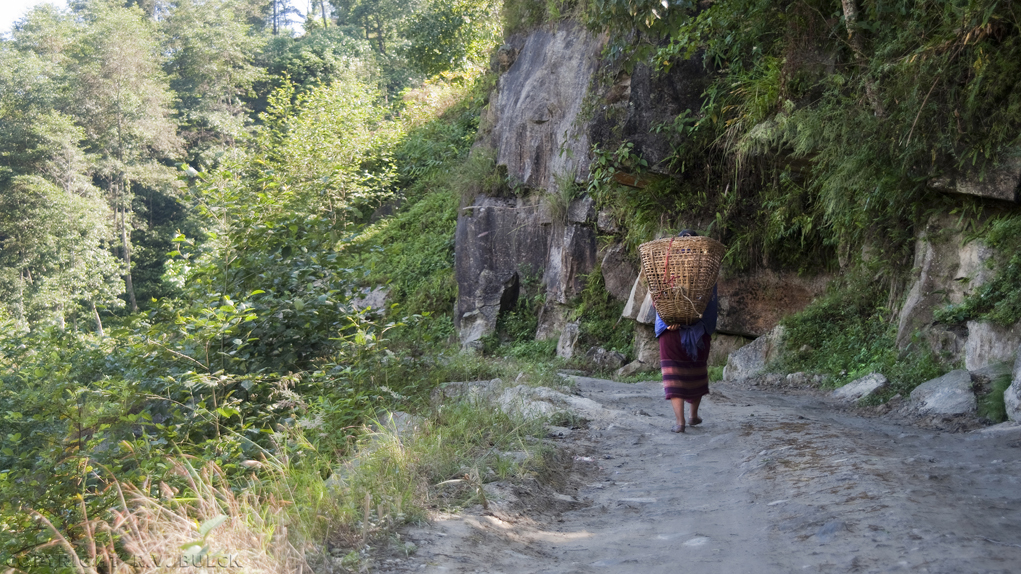 Sikkim, Road from Rinchenpong to Martam